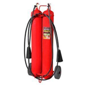Огнетушитель углекислотный ОУ-40 (2-х балонный) для тушения возгораний веществ в Шымкенте